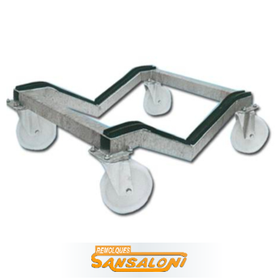 Trineo corto con ruedas giratorias sin torretas
